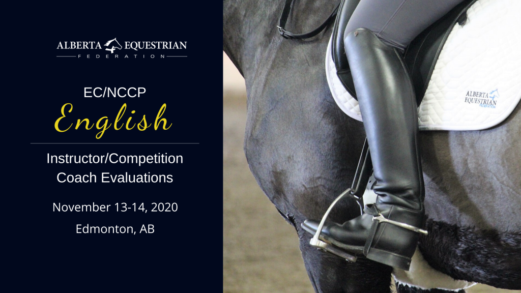 Cancelled: EC/NCCP English Instructor/Competition Coach Evaluations @ Whitemud Equine Learning Center | De Winton | Alberta | Canada